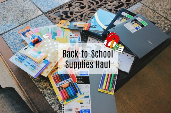 Back-to-School Supplies Haul